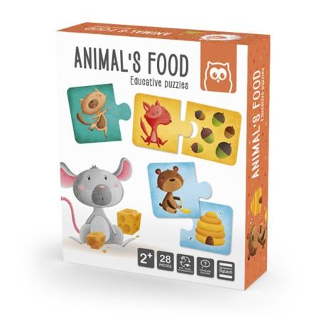Montessori Puzzle - Állatok eledele