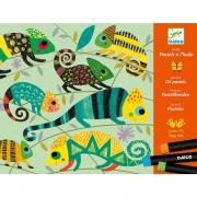 Olajpasztell kreatív készlet - Színes dzsungel