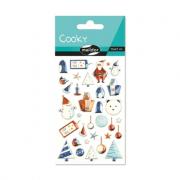 Cooky 3D matricák - Kék Karácsony