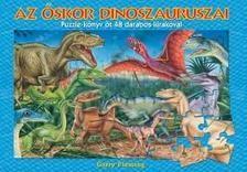 Az őskor dinoszauruszai - puzzle könyv