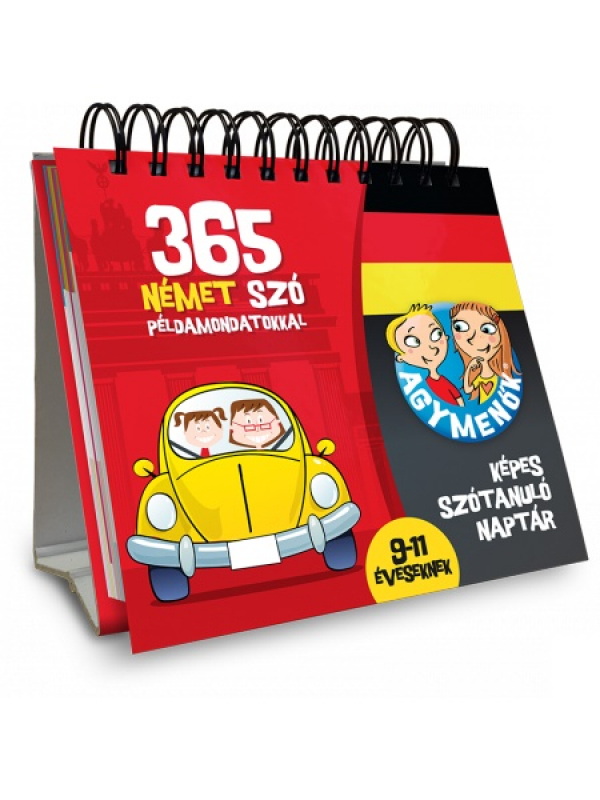 Agymenők - Képes szótanuló naptár - 365 német szó példamondatokkal 9-11 éveseknek