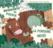 Mesekönyv és Puzzle - La Fontaine meséi
