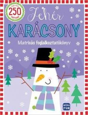 Fehér karácsony - matricás foglalkoztató