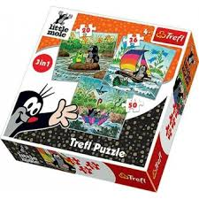 Kisvakond puzzle 3in1