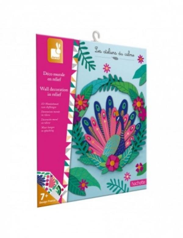 Papír páva fali dekoráció - Kreatív készlet