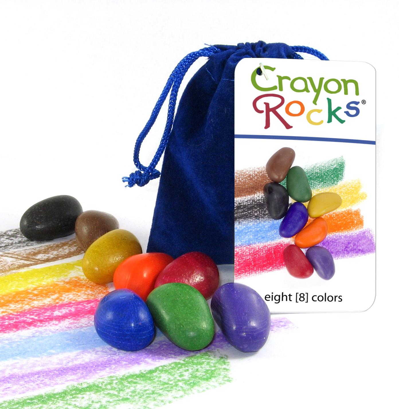 Crayon Rocks - Kavicskréta (bársony zacskóban, 8 db-os)