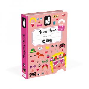 Mágneses könyv - Vicces arcok, lányos