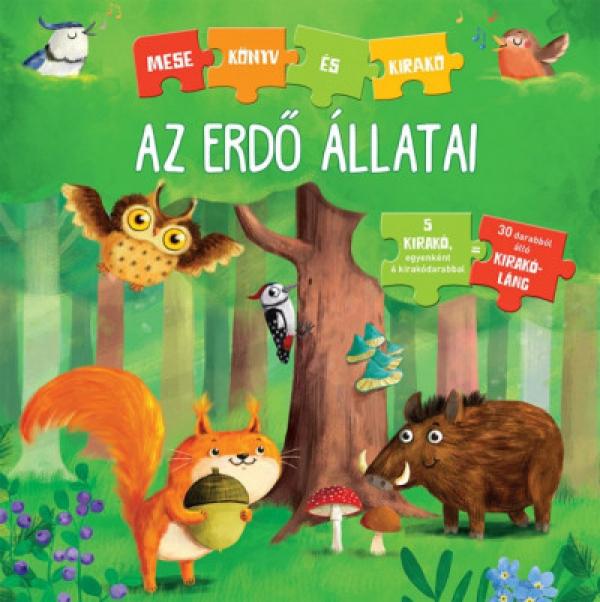 Az erdő állatai - Mesekönyv és kirakó