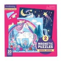 Mágneses Puzzle - Varázslatos Unikornis