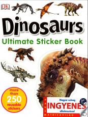 Dinosaurs - angol nyelvű matricás foglalkoztató