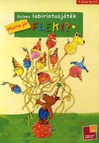 Színes labirintusjáték - Merre jár Fleki?