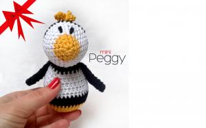 Peggy - mini  horgolt pingvin