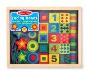 Fa készségfejlesztő játék - fűzős gyöngyök dobozban