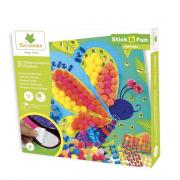 Mozaikkép készítés habszivacsból - Pillangók