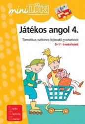Játékos angol 4 . - Tematikus szókincs-fejlesztő gyakorlatok 8-11 éveseknek LDI304 - miniLÜK