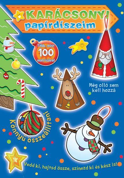 Karácsonyi papírdíszeim - kék