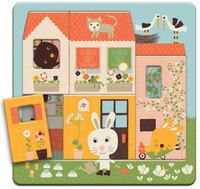 3 rétegű puzzle - Nyuszkó háza