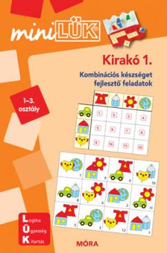 Kirakó 1. 1-3. osztály -  Kombinációs készséget fejlesztő feladatok -LDI603 - miniLÜK