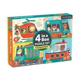4 az egyben puzzle - Járművek