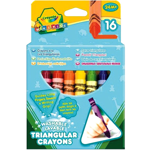 Crayola - Háromszög zsírkréta, 16db