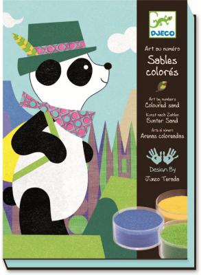 Színes homoktechnika - Panda és barátai
