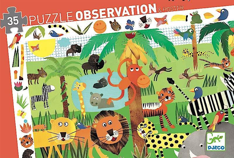 Böngésző puzzle - Dzsungel