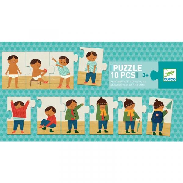 Párosító puzzle - Sorozat puzzle - Felöltöztem