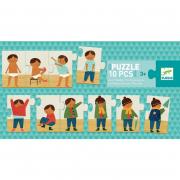 Sorozat puzzle - Felöltöztem