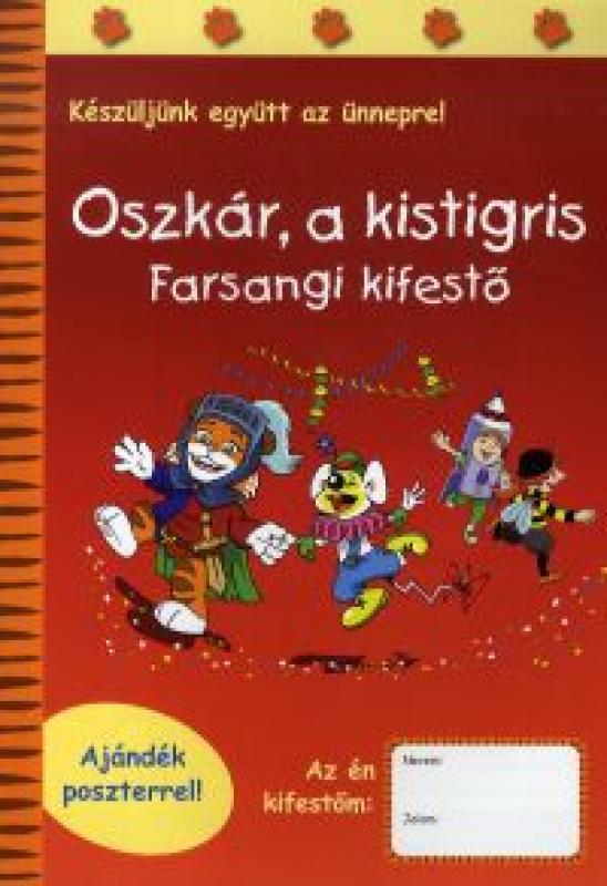 Oszkár, a kistigris - Farsangi kifestő