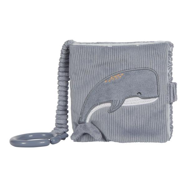Plüss babakönyv tengeri állatok - kék