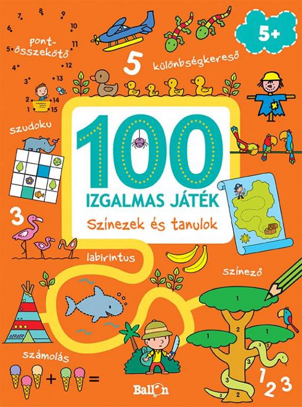 100 izgalmas játék - Színezek és tanulok